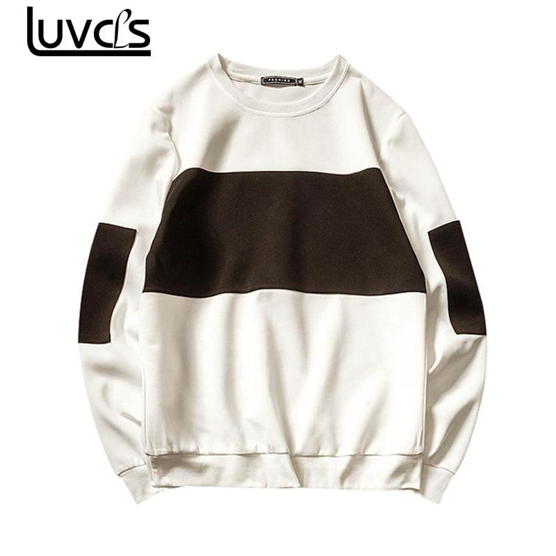 LUVCLS 2018 New Unisex Men Pullover Hoodies Fashion Plaid Mans Sweatshirts Casual Long Sleeves Hoodie Swearshirt Big Size 5XL