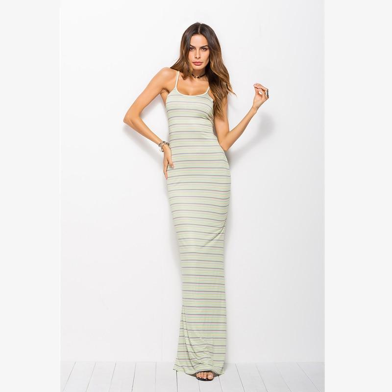 Striped bodycon maxi dress nigeria wholesale usa