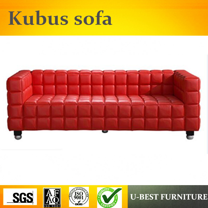 U-BEST Italian Style 3 Seater Small Size Sectional Sofa With Genuine Leather,recliner sectional sofa