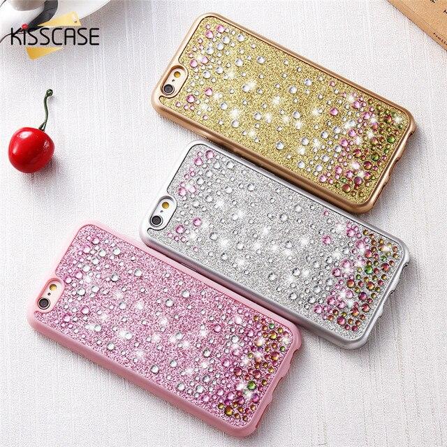 8ade07eef KISSCASE Luxury Glitter Diamond Case For iPhone 6 6s Plus Raindrop Bling  Crystal Thin TPU Back Cover Case For iPhone 6s 6 Plus