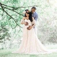 RQ Elegant Lace Maternity Dress Photography Props Long Dress Pregnant Women Clothes Fancy Pregnancy Photo Props