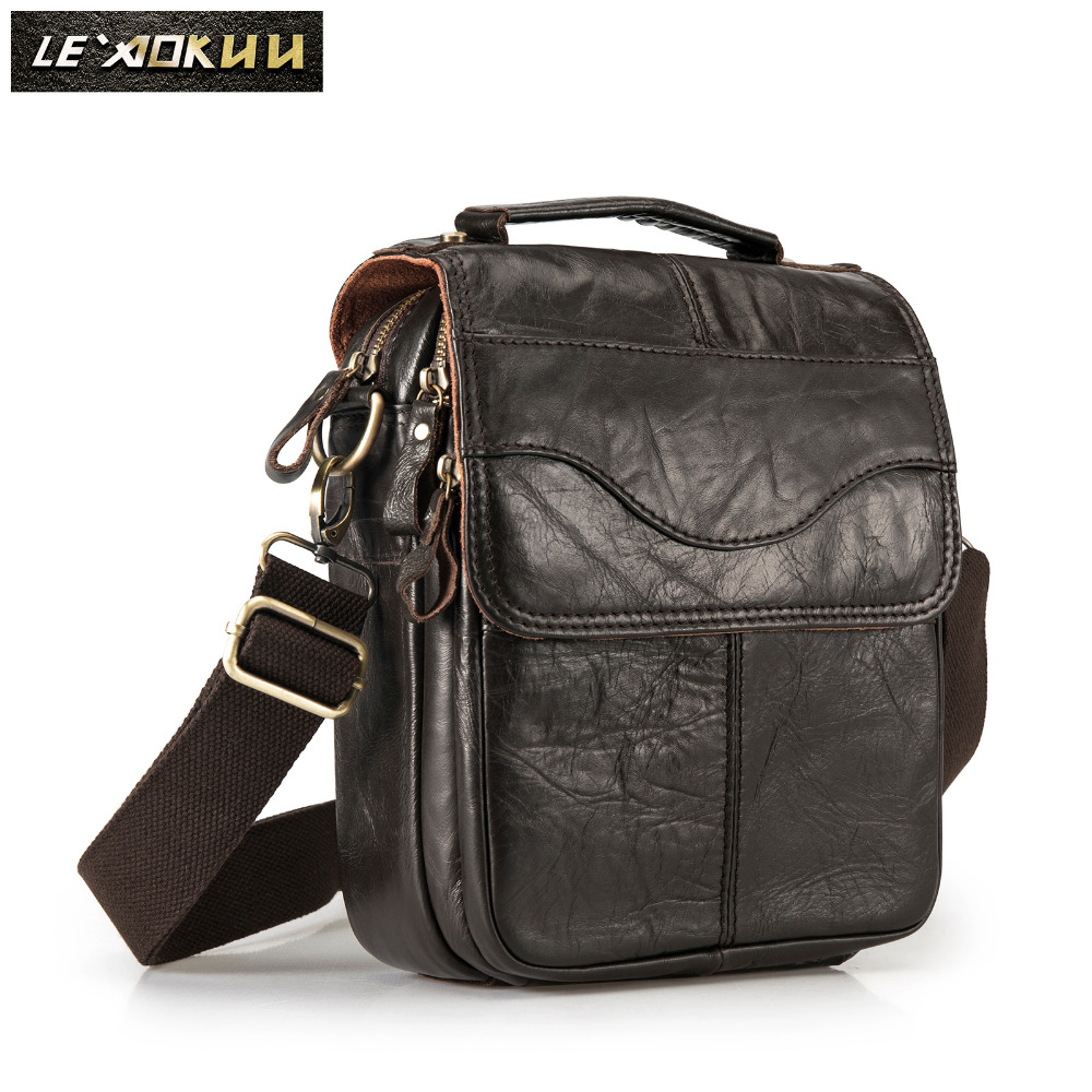 Original Leather Male Fashion Casual Tote Messenger bag Design Satchel  Crossbody One Shoulder bag Tablet Pouch 683971b195b1e