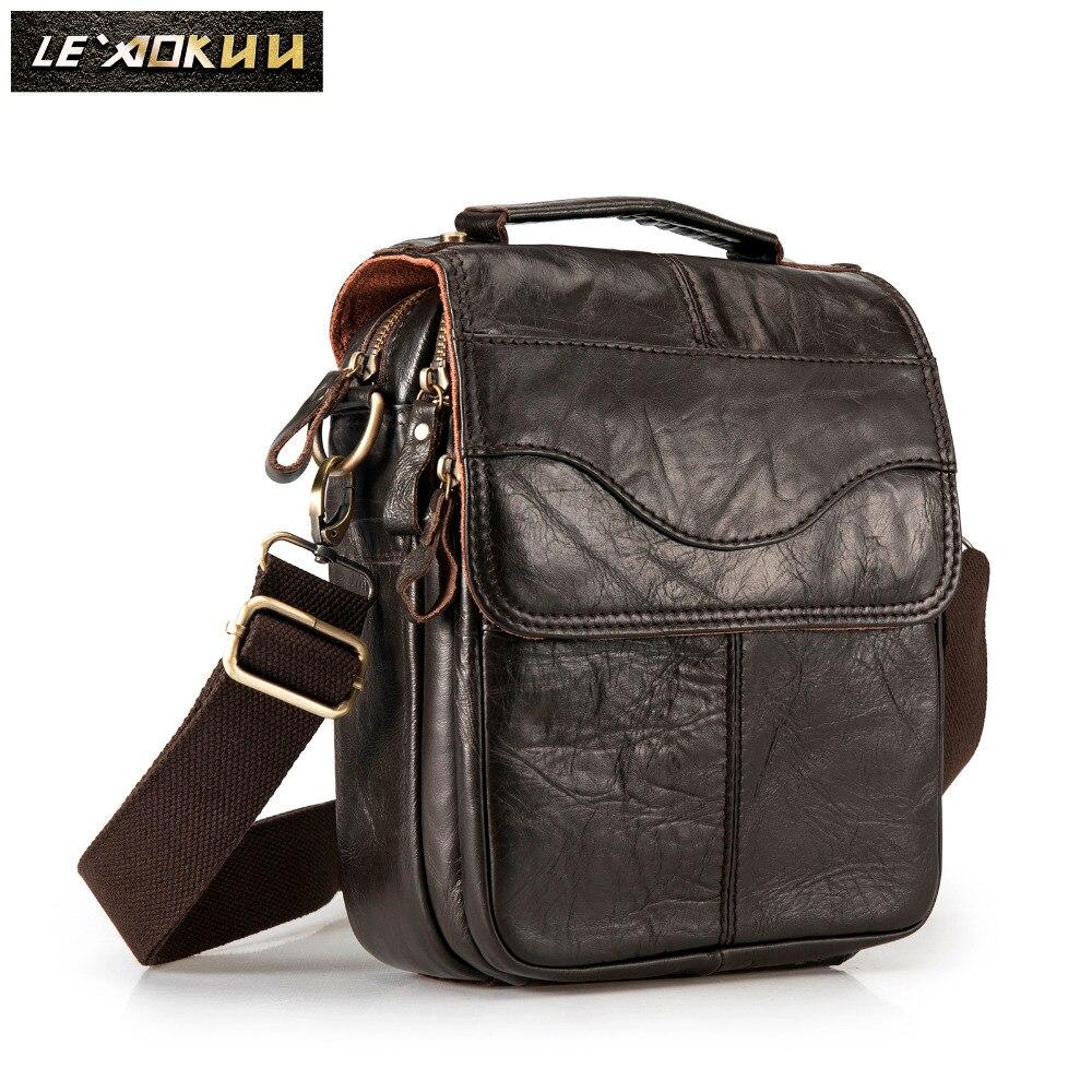 De Couro Original Moda Masculina Projeto Satchel Ocasional Saco Do Mensageiro saco Crossbody Um Ombro saco Tablet Bolsa Para Os Homens 144