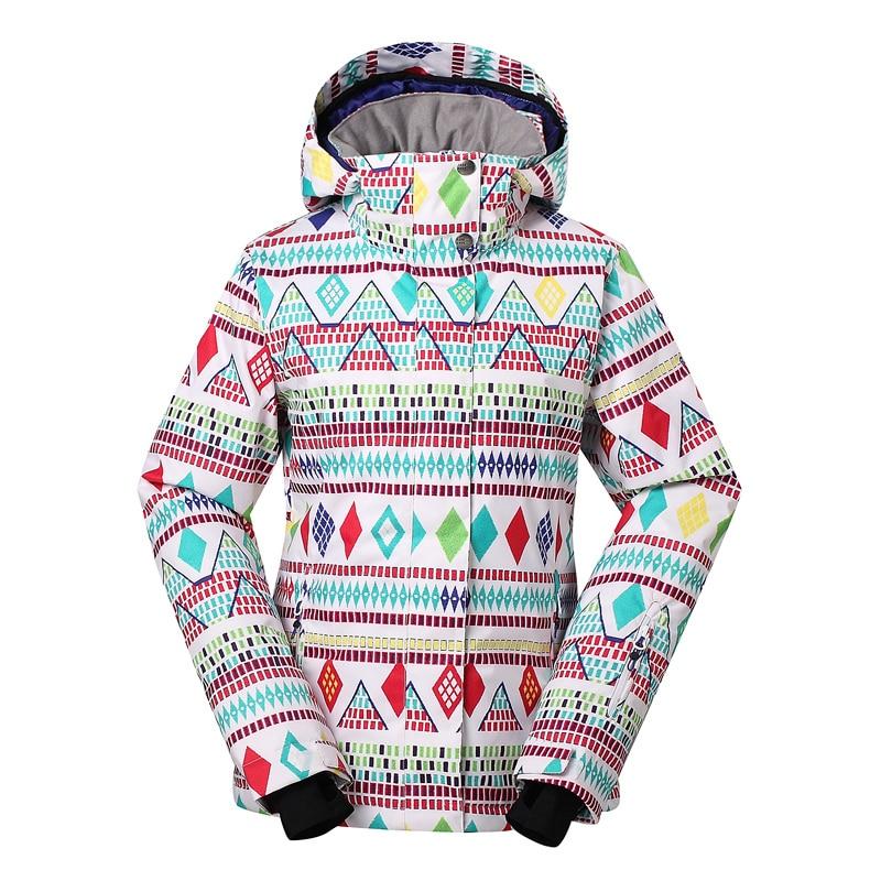 Prix pour 2017 Nouveau Femmes Ski Costume Vêtements d'hiver Lady Snowboard Vêtements de plein air coton manteau 10 K étanche coupe-vent snowboard Veste