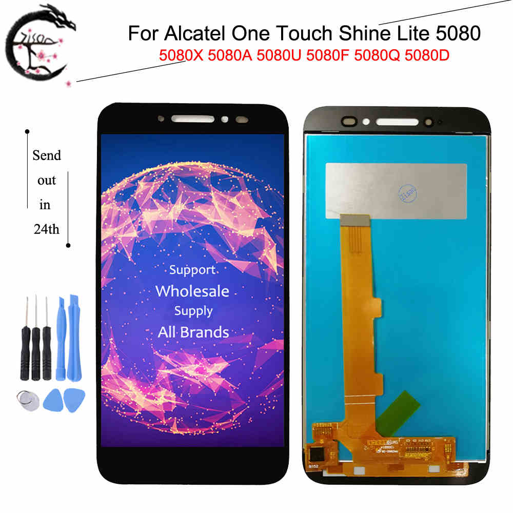<font><b>LCD</b></font> For <font><b>Alcatel</b></font> One Touch <font><b>Shine</b></font> <font><b>Lite</b></font> 5080 <font><b>5080X</b></font> 5080A 5080U 5080F 5080Q 5080D <font><b>LCD</b></font> Display Screen Touch Panel Digitizer Assembly image