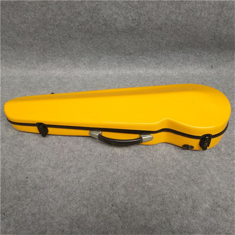 High quality white glass fiber violin case. You can put 2 violin bow. A variety of colors can be produced white 4 4 new violin case high quality carbon fiber black light strong can put two bow