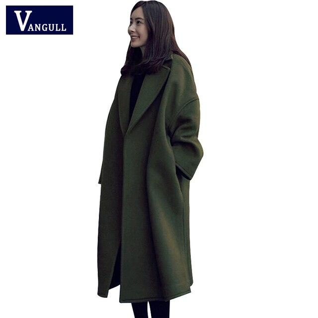 Warme Wollen Winterjas Dames.Nieuwe Winter Vintage Vrouwen Lange Wollen Jas Dames Elegante Lange