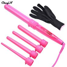 09-32mm Pro Series 5 in 1 Curling Wand Set Hair Curling Tong 5pcs Hair Curling Iron The Wand Hair Curler Roller Gift Set  HS2542