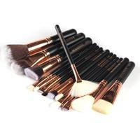 15 Pcs Professional Luxury Set Complete Makeup Brushes Sets Make Up Tools Kit Powder Blending Brushes