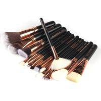 15 Pcs Professional Luxury Set Complete Makeup Brushes Sets Make Up Tools Kit Powder Blending Brushes