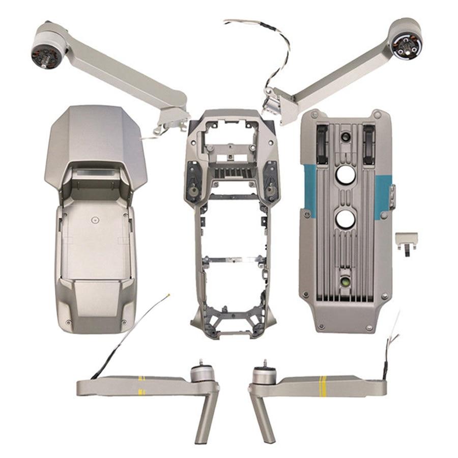 DJI Mavic Pro Platinum 7 piezas de reparación brazo trasero derecho izquierdo parte superior inferior carcasa medio marco pieza de repuesto