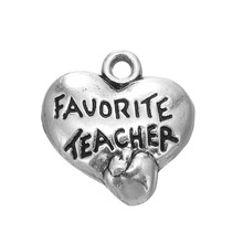 30pcs favorite teacher heart charm Teachers day gift