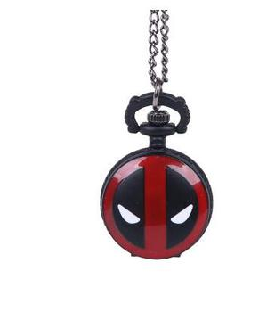 Cool Fashion Deadpool Theme Pocket Watch With Black Chian Necklace Best Gift To Children