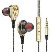 computer cell Fanshu 3.5mm Wired High bass Dynamic stereo In-Ear Earphones With Microphone Computer earbuds For Cell phone fone de ouvido (1)