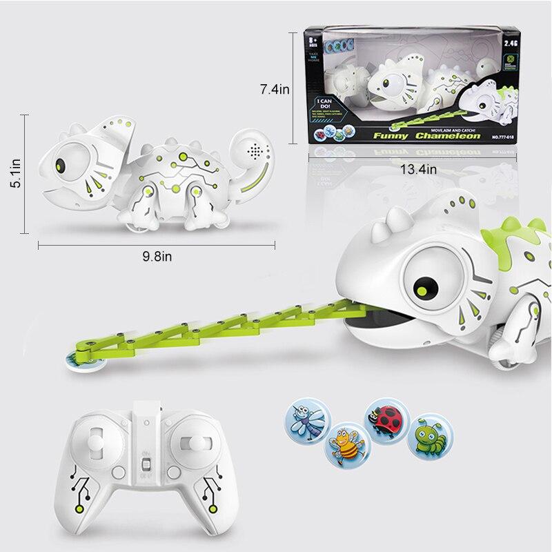 Chameleon Robot: Electronic Pets Toys RC Robot Chameleon 2.4GHz Pet Cute