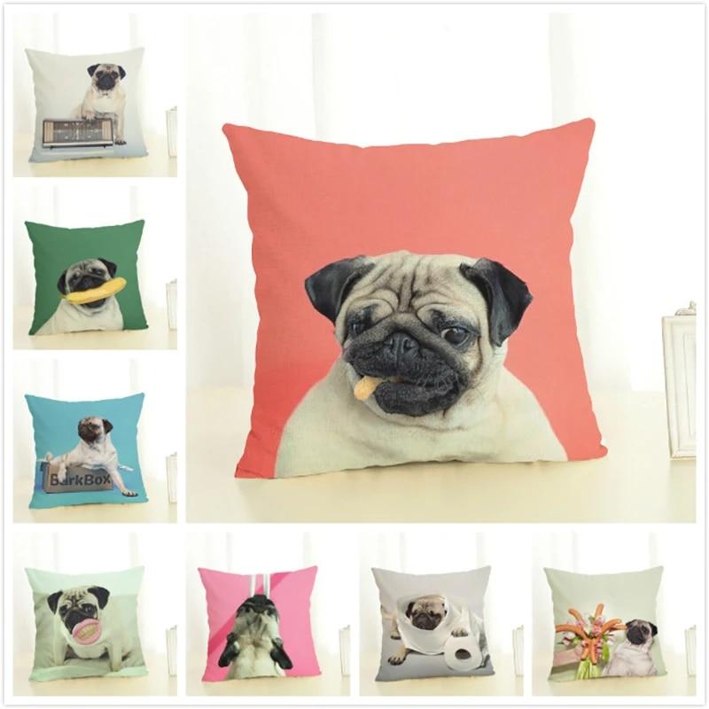 bulldog with ball print cushiion cover new
