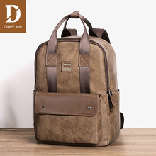 DIDE Laptop Backpacks For Teenager Male Mochila Fashion Casual Leather Travel Backpack School Bag Hand Bags Waterproof