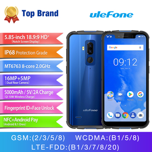 "Image 3 - Ulefone zırh 5 su geçirmez IP68 NFC 5.85 ""HD + cep telefonu MT6763 octa çekirdekli Android 8.1 4GB + 64GB kablosuz şarj yüz kimliği 5000mAh"