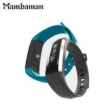 Mambaman M2 Smart пульсометр крови Давление измеритель пульса Браслет фитнес SmartWatch smartband для iOS телефона Android