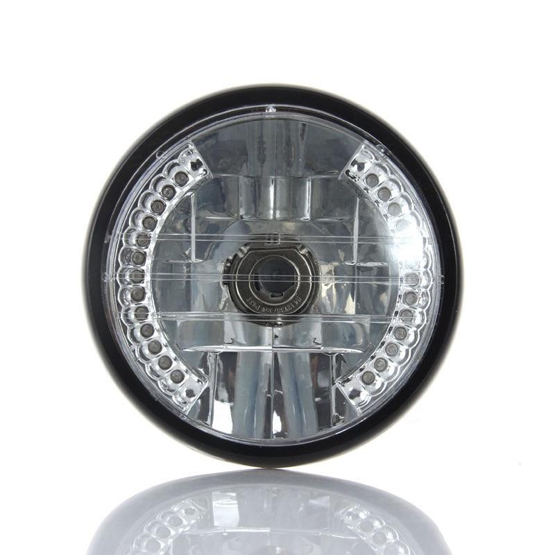 7 inch Harley Motorcycle Headlight Round LED Turn Signal Indicator For Harley Bobber Dyna Honda YAMAHA YBR125 YBR 125 2002-13 motorcycle air filte for yamaha ybr125 ybr 125 jym 2002 2013 03 04 05 06 07 new
