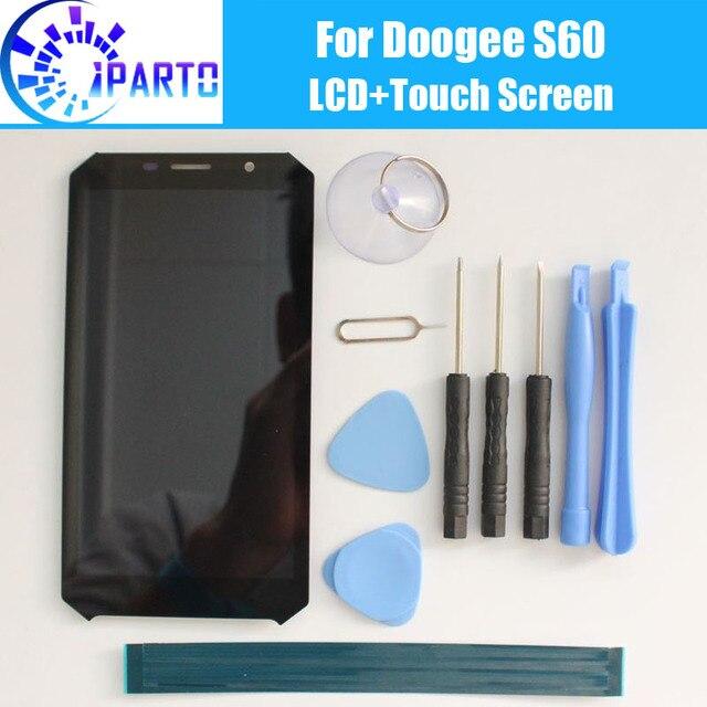 Doogee S60 شاشة الكريستال السائل + شاشة تعمل باللمس 100% الأصلي اختبار LCD محول الأرقام لوحة زجاج استبدال ل Doogee S60