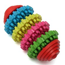Durable Colorful Rubber Pet Dog Puppy Dental Teething Healthy Teeth Gums Chew Play Toy Random Color