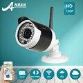 Nuevo anuncio anran cámara bullet ip wifi 720 p hd impermeable al aire libre de la visión nocturna de vigilancia de vídeo de cámaras de seguridad inalámbrica