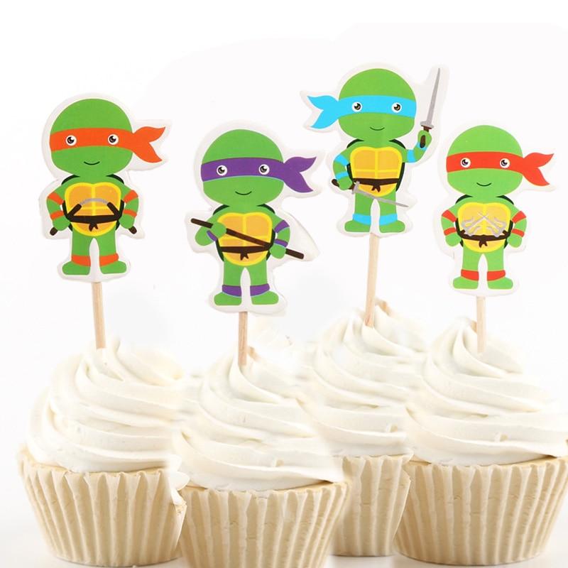 24pcs/48pcs Green Baby Teenage Mutant Ninja Turtles ...