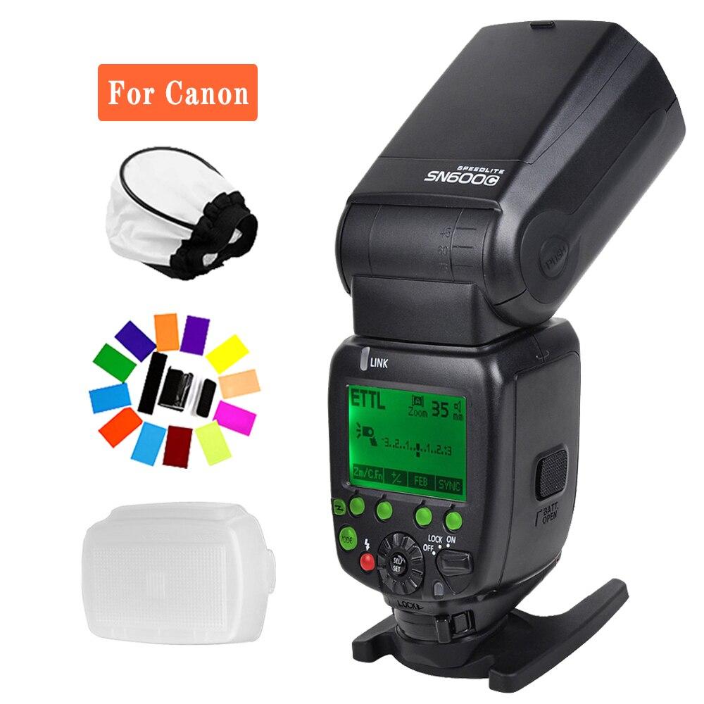 SHANNY SN600C HSS 1/8000S sur l'appareil photo TTL GN60 Flash Flash Speedlite pour Canon T6s T6i T5i T4i T3i T3 T2i 60Da 80D appareils photo reflex numériques