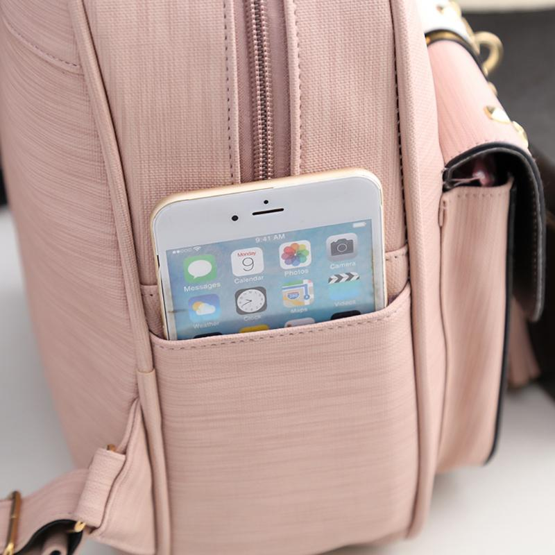 3pcs Simple Tassel Women Handbag PU Leather Backpack Girl Shoulder Bag 3pcs  Fashion Women Big Tote Handbags PU Girls School Backpack Shoulder Bag 9586517a4b7e6