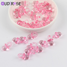 OUDIROSE 50pcs Mini Blue Pink Pacifier Beaded Baby Shower Birthday Party For Party Table Game Decoration Wedding Supplies Decor