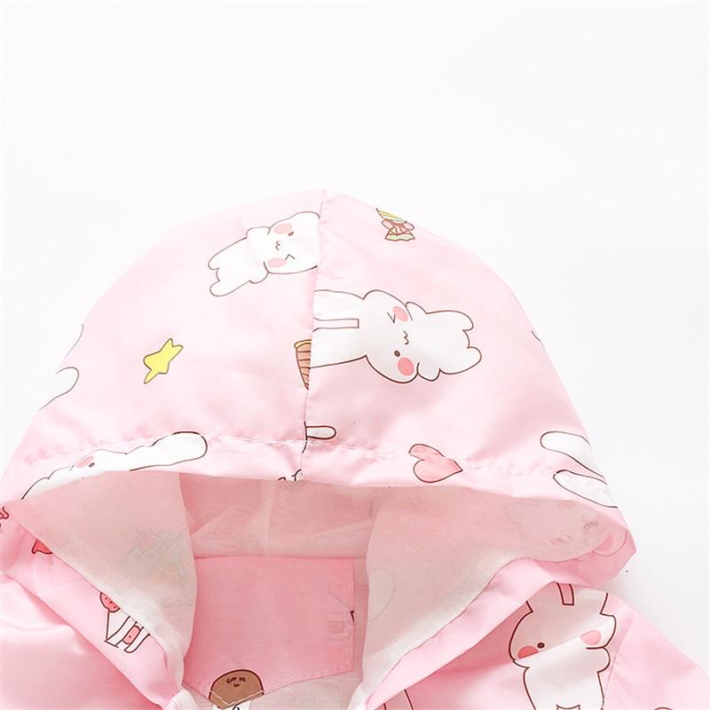 BibiCola baby girls jackets children spring coat for girl fashion hooded cartoon kids summer clothing kids girls coats outerwear