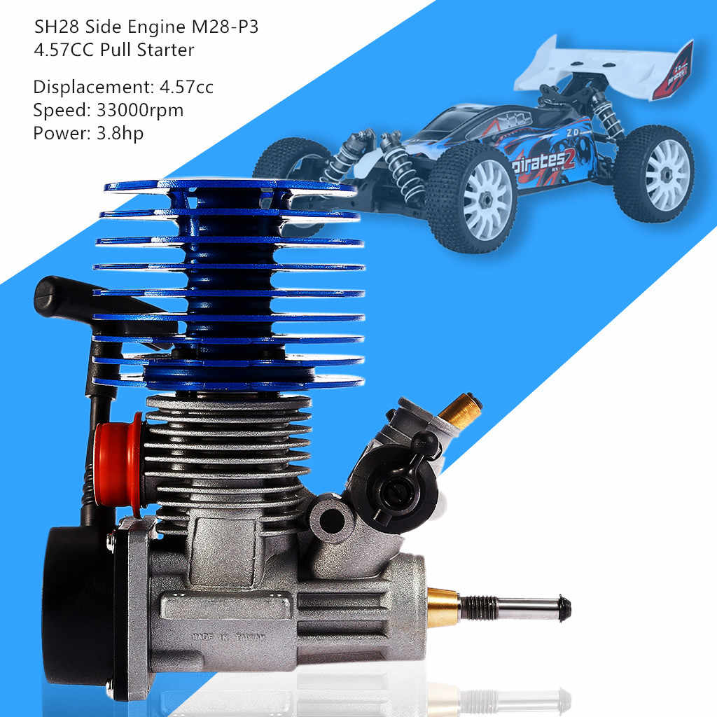 SH28 Side Motor M28-P3 4.57CC Hand Pull Starter Voor 1/8 Rc Racing Buggy Truggy