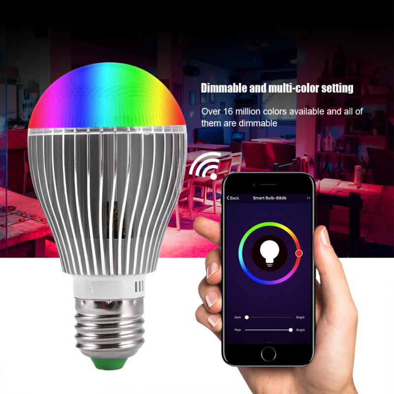 E27 RGB Light Bulb Color Changing LED Bulb Dimmable Smart Light Bulb Home Party Decoration Lamp with 24 Key Remote Control Under-cabinet lighting