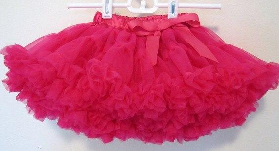 Фиолетовые Пышные юбки-американки для девочек юбка-пачка юбка для девочек юбка для танцев пышная и Мягкая юбка-американка для девочек - Цвет: hotpink