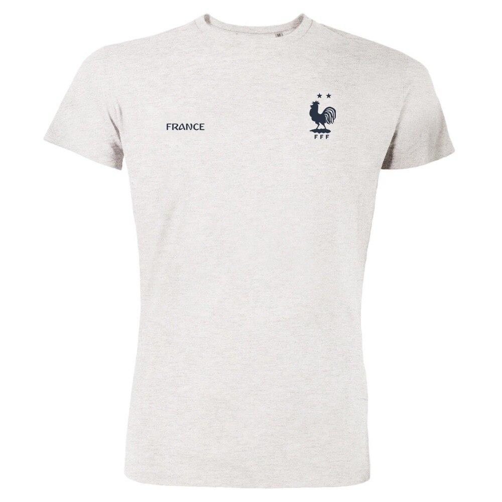 2018 mode Heißer Verkauf T Hemd Frankreich Französisch Fußballer Soccers Team 2 Sterne Zwei Championship T Hemd