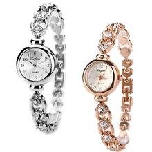 Women's Fashion Lvpai Rhinestone Bracelet Stainless Steel Analog Wrist Watch New