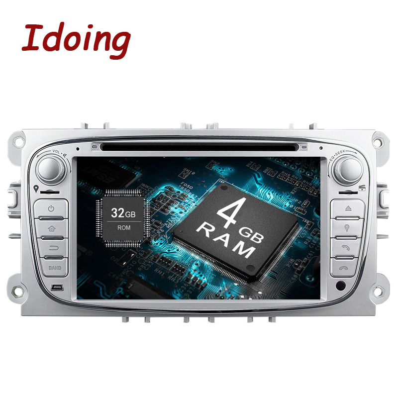 Più nuovo Android 8.0 4g + 32g di Avvio Veloce per Ford Focus Mondeo Car Multimedia System Built-In wifi 1024*600 7 inch 3g Dab + Obd2 TV