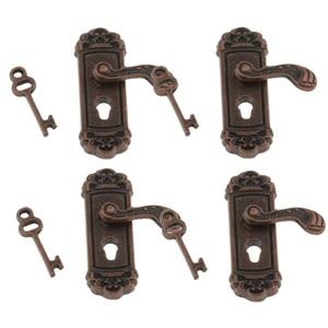 4Pcs Doll House Door Lock 1:12