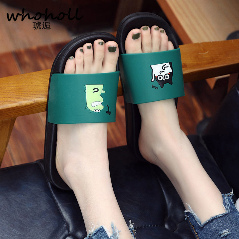 WHOHOLL Man Home Slippers Summer Sandals 2019 New Anti-skid Outside Wear Indoor Home Bathroom Bath Couple Cold Slippers Male 1