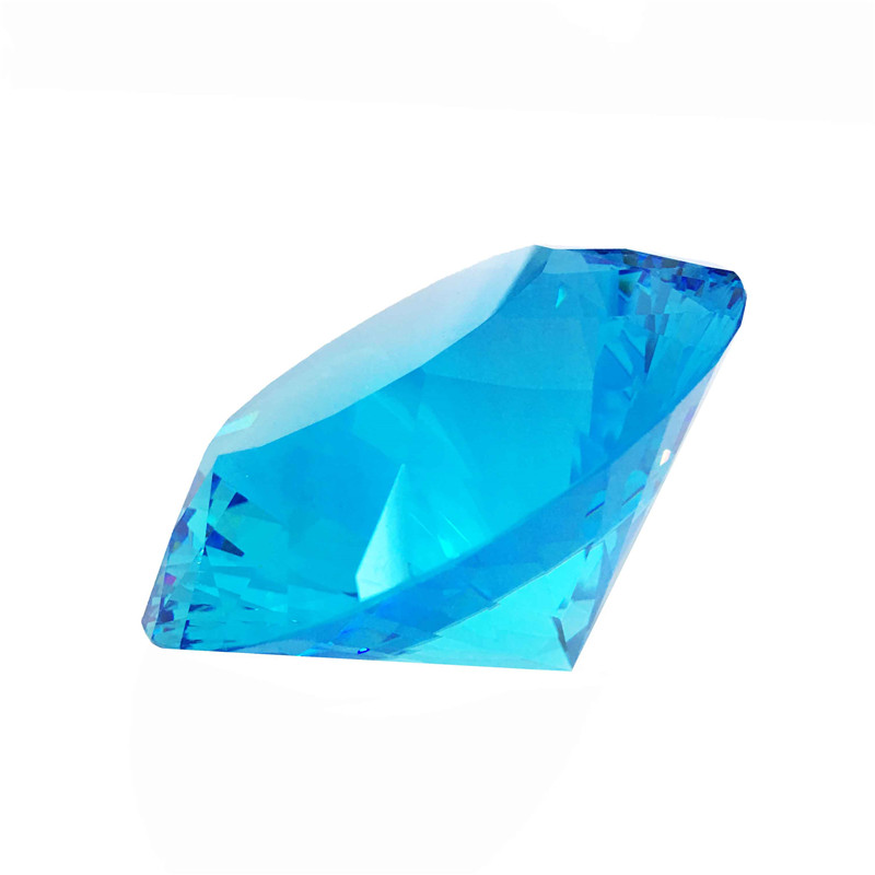 1pcs 150mm Glass Aquamarine Multidimensional Glittering Crystal Diamond Paperweight Crafts For Wedding Gifts Wholesales