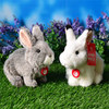 Simulation Rabbits Plush Toys Cute White Gray Rabbit Plush Doll Soft Stuffed Animal Toy Gifts For