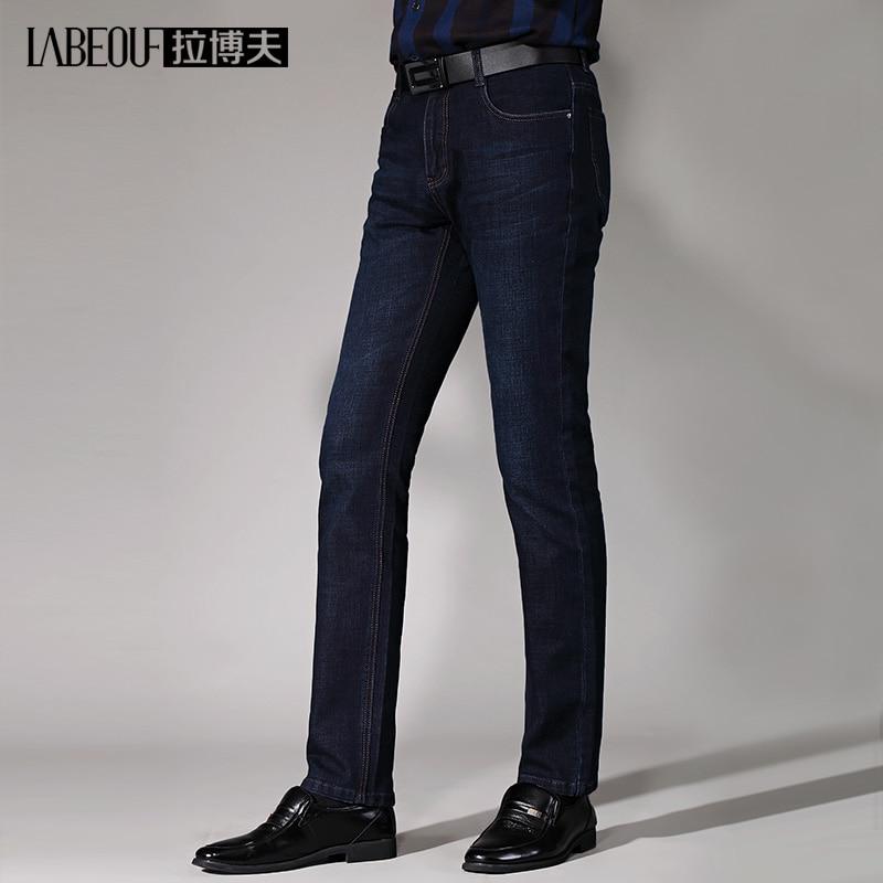 2017 Labeouf mens Jeans men Cotton Denim Jeans for men Long casual straight Slim men Jeans Masculina