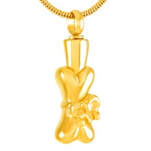 Bone with Ribbon Urn Necklace