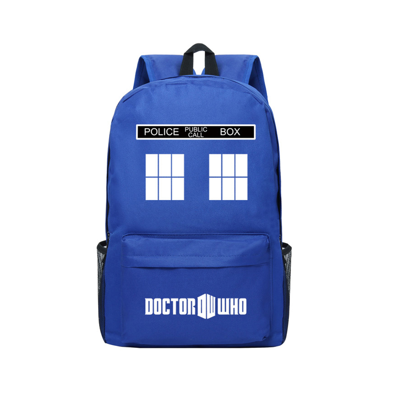 Zshop TV Time And Relative Dimensions In Space Doctor Who Backpack School Bags Men Travel Bags The Doctor TARDIS Bookbags футболка рингер printio доктор кто doctor who