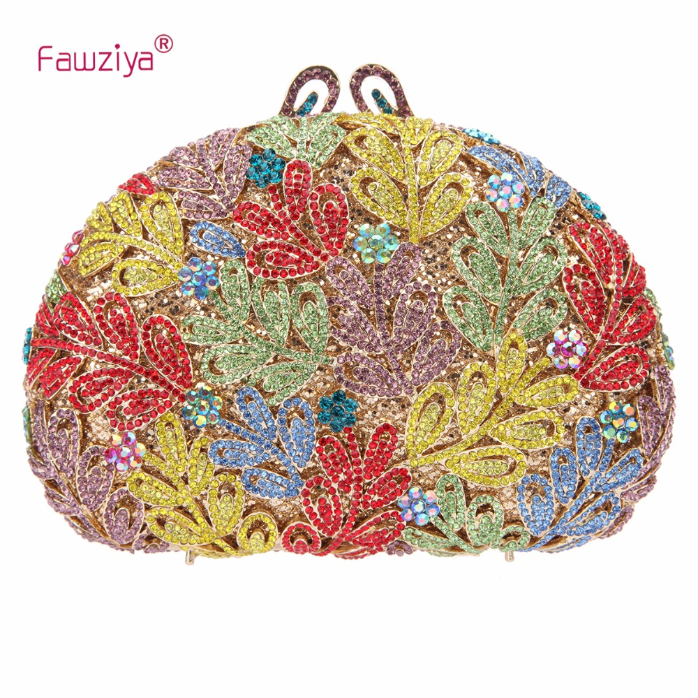 Fawziya Leaves Clutch Purses For Women Evening Bags For Girls fawziya evening bags kisslock purses hard case clutch evening party bags
