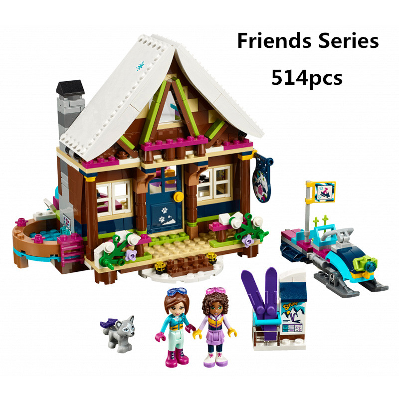 514pcs Lepin Girls Princess Snow Resort Chalet Model Kids Building Kits Blocks Bricks Compatible with legoingly 41323 Toys lepin 01040 friends girl series 514pcs building blocks toys snow resort chalet kids bricks toy girl gifts lepin bricks 41323