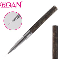 BQAN 2016 New Marble Handle Manicure Tool 9mm Nylon Liner Drawing Nail Art Brush 1 piece Free Shipping