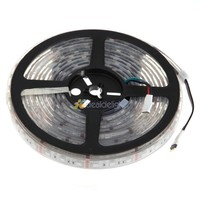 Wholesale 10pcs DC12V 5M/Lot IP68 Underwater Waterproof 5050SMD 300 LEDs RGB Flexible LED Strip Light Free DHL Shipping
