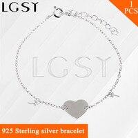 Mode DIY armband metalen vrouwen hand sieraden 925 sterling zilveren hartvorm armband fitting bedels parel armband accessoire